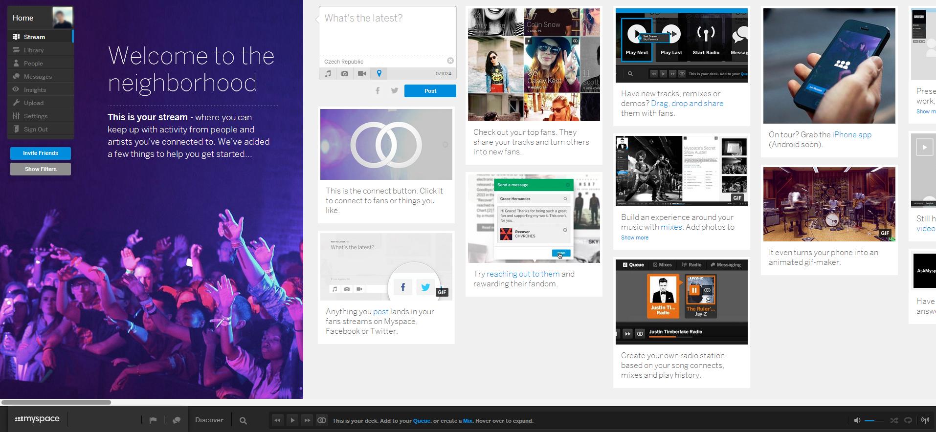 Myspace náhled