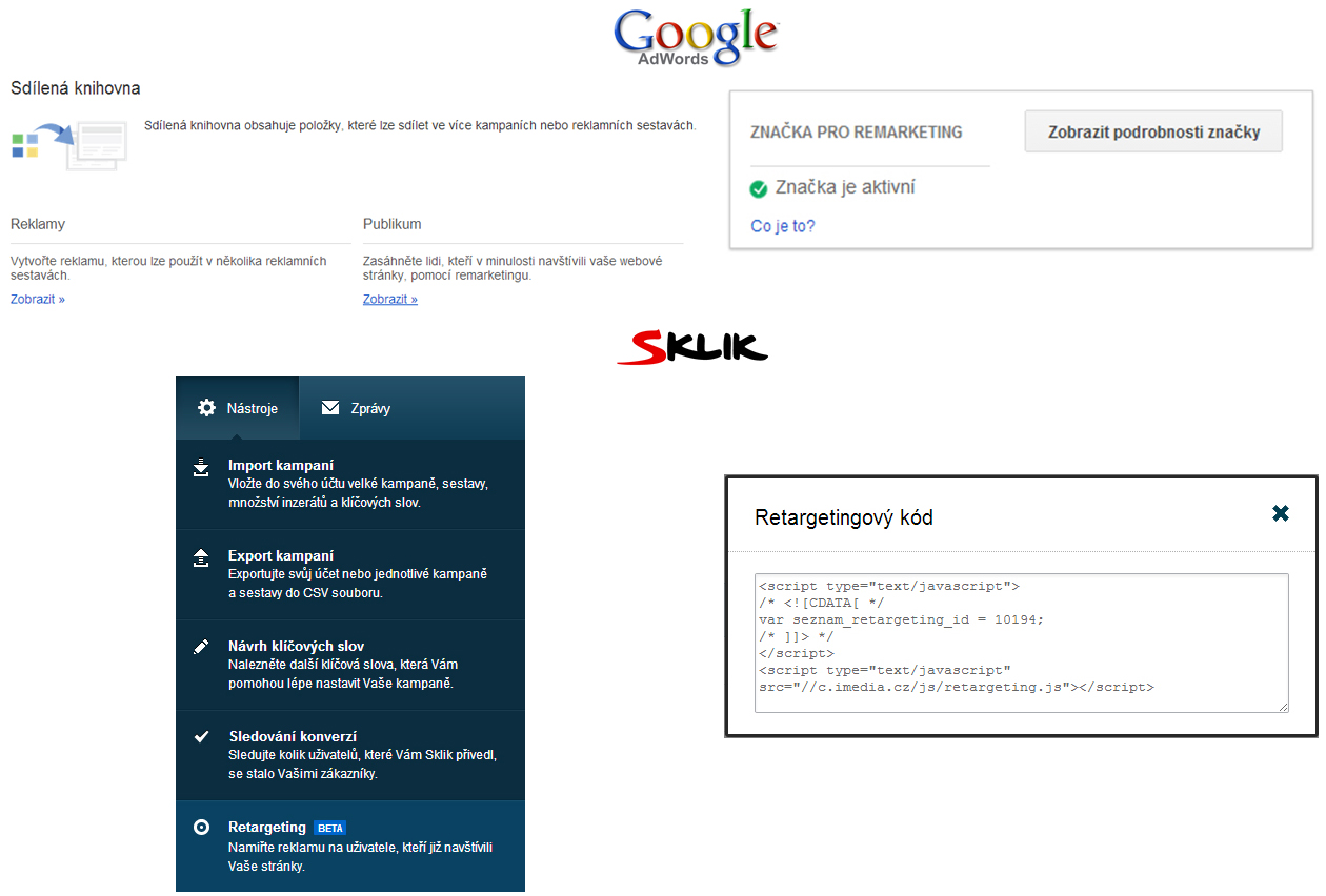 Remarketing / retargeting - Sklik, Adwords
