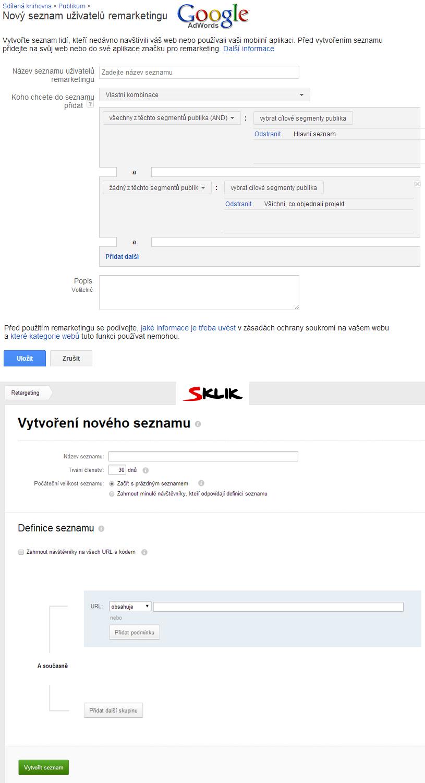 Seznam uživatelů Adwords, Sklik