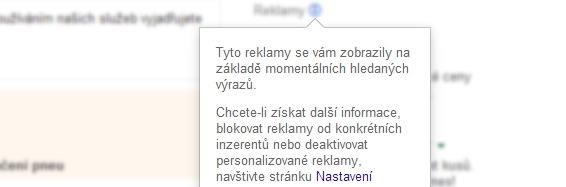 Jak vypnout vtíravé zobrazování určitých reklam Google?